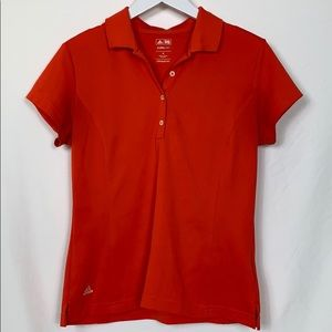 Adidas climalite coral golf polo size med.
